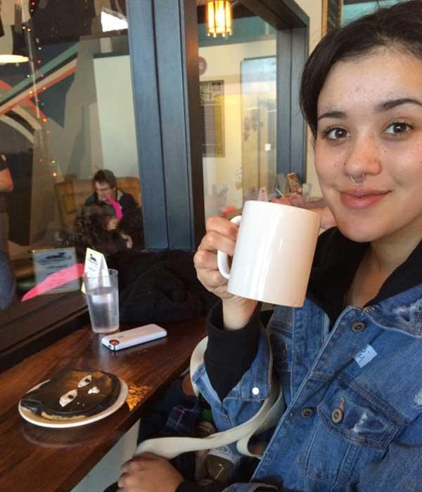 Zinnia with her birthday snacks. Photo by Kezia Willingham