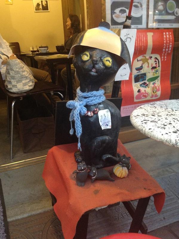 """A """"cat cafe"""" in Yanaka."""