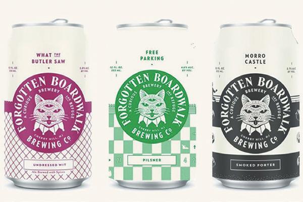 Forgotten Boardwalk Brewing's cat-inspired beers.