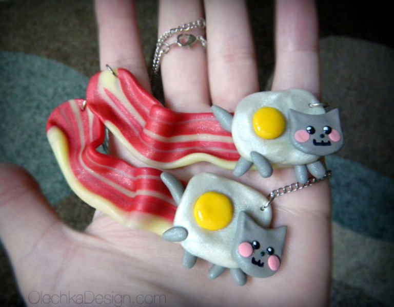 Cat Bacon Necklaces