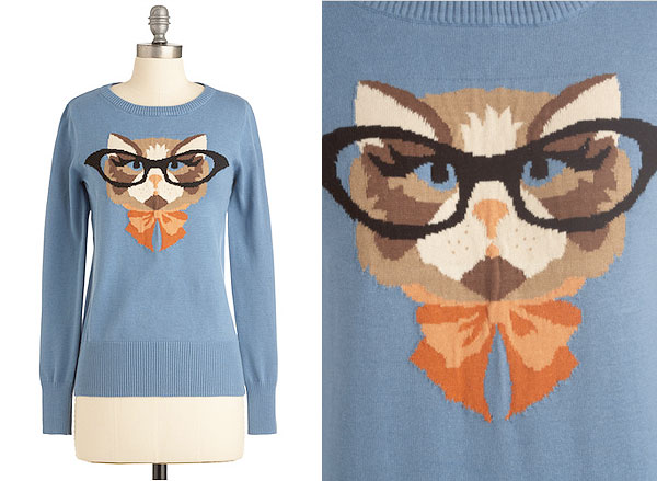 Cat Chic A Smart Sweater For Bookish Feline Enthusiasts Catster