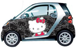 Inc Best Known For Global Pop Icon Hello Kitty Announced A Partnership Today To Offer Vehicle Wraps Featuring The Smart Fortwo