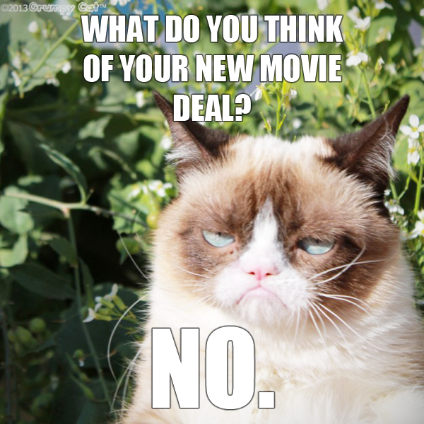 Grumpy cat gets a movie deal does not appear to be the least bit grumpy cat gets a movie deal does not appear to be the least bit pleased catster altavistaventures Gallery
