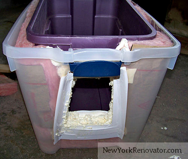 Make Cat House From Bucket