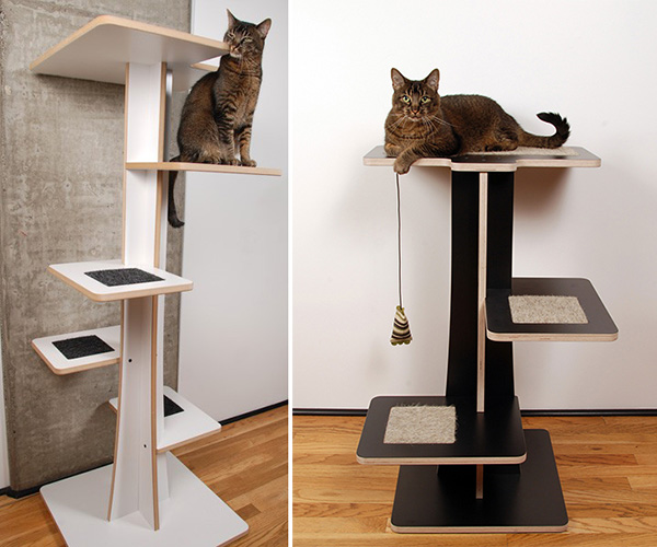 cool cat tree furniture stylish banish the ugly beige carpet check out these cool cat trees catster
