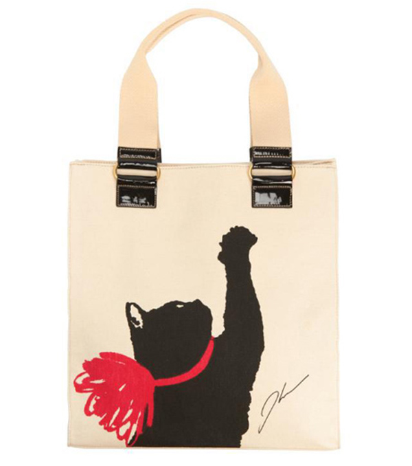 The Black Cat S Image Eared On A Highly Coveted T Shirt Tote Bag And All Over Print Scarf Which Sold Out Of Almost Immediately
