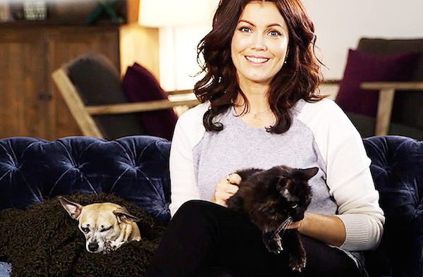 Bellamy Young with Bean and Sadie.