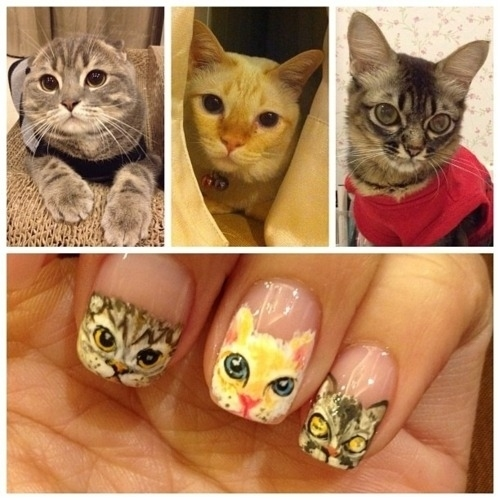 Cat Nail Art Yet One More Way To Display Our Cat Lady Pride Catster