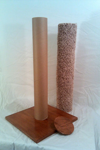 If you're ready for a fun project, here are detailed instructions on how to recarpet a cat scratching post.