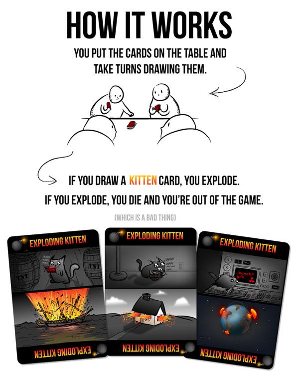 A Card Game Called Exploding Kittens Blows Kickstarter Away