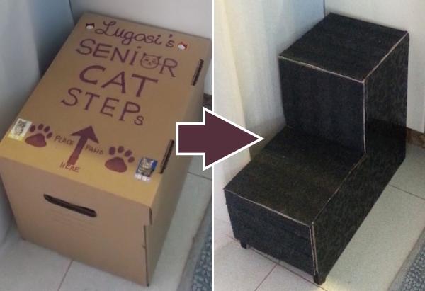 Catster Diy How To Make Steps For Your Senior Cat Catster