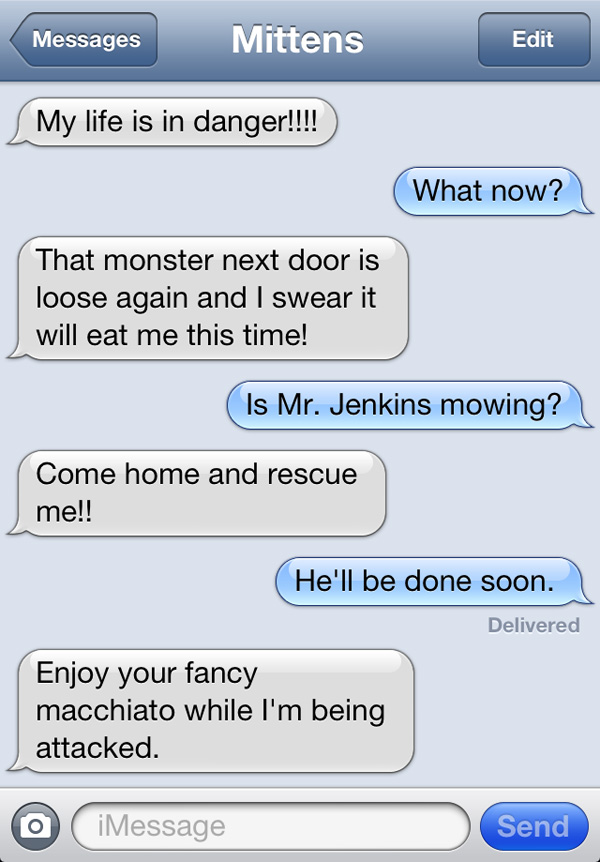 Texts From Mittens The Cat How Dare You Go On Vacation