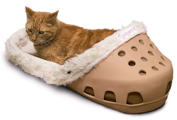 Win a Cat Bed that Looks Like a Giant Crocs Sandal from Sasquatch