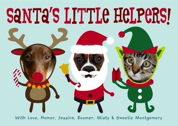 5 ideas for a holiday greeting card starring your cat catster 4 santas little helpers by tiny prints m4hsunfo