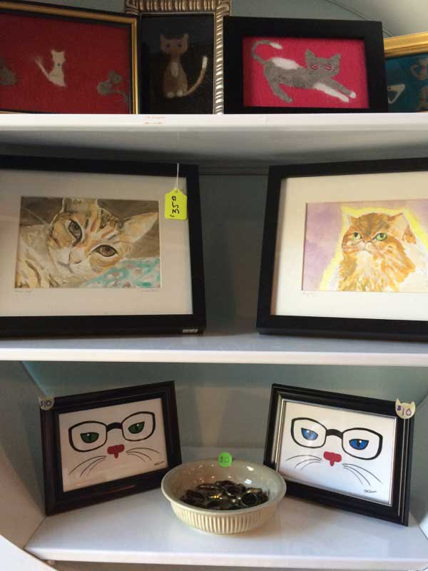 Lots of fun kitty-themed goods are available for purchase. (Photo by Kezia Willingham)