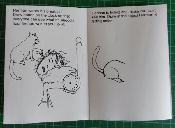 The Official Herman Cat Coloring And Activity Book