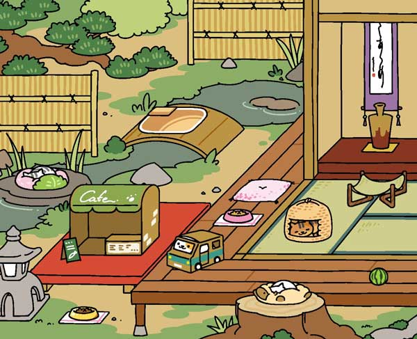 Vicky has bought a cat cafe at the next level of the game.