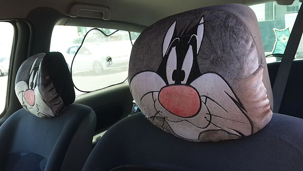 sylvester headrest covers
