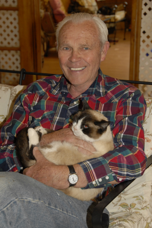 Harold Sims with one of the Catman2 felines. (All photos courtesy Harold Sims)