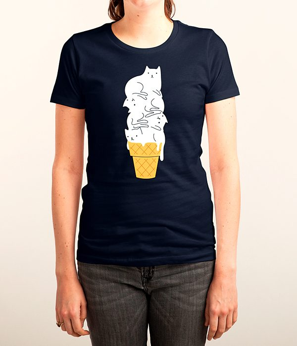 Obs-Style-cats-cone-Melt-t-shirt