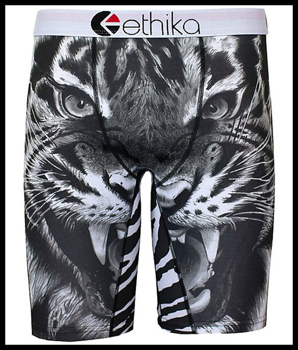 underwear tiger black and white