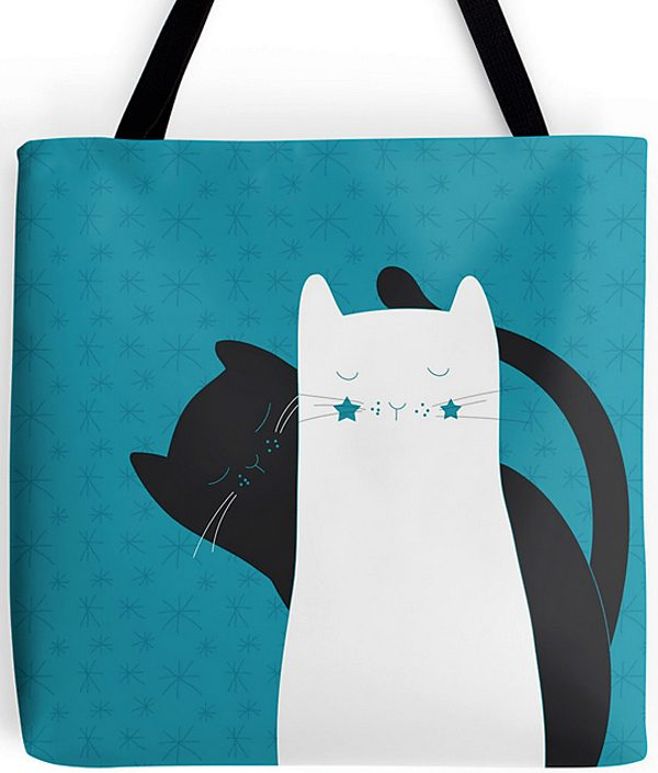 tote-bags-blue-black-white-cats