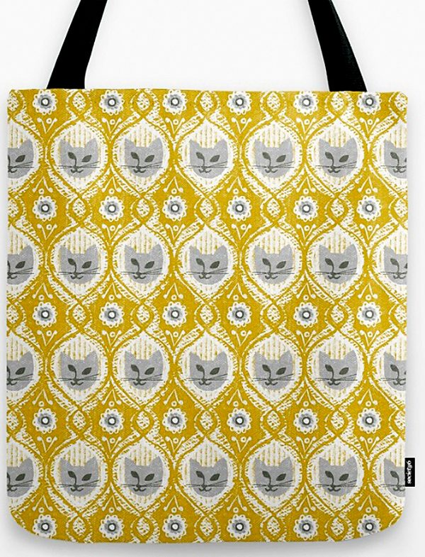 tote-bags-gray-cats-gold