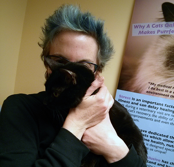 I trusted Siouxsie to tell me when she was ready, and she did. This photo of Siouxsie and me is from our final appointment.