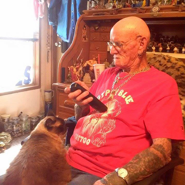 """My men. My Ukrainian Granny always told me never trust a man who does not love cats. Cats are loving and independent all at the same time. Love a man who can respect souls with both those qualities and you will be happy."" -Submitted by Facebook user Carol M. Walker"