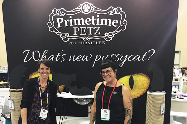 Hanging out with Kate Benjamin and checking out fun new cat furniture from Primetime Petz.