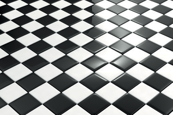 Tile floors.
