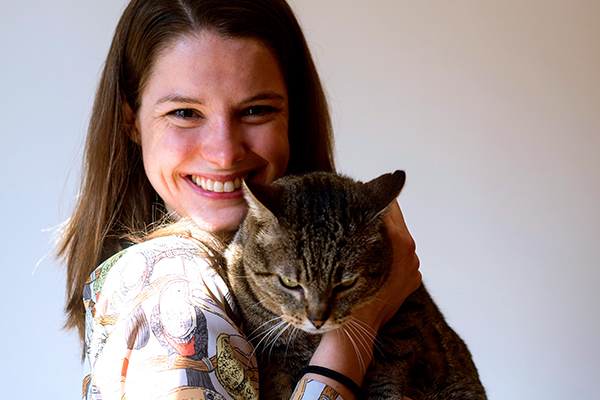 International Catsitter Laurel Steele.