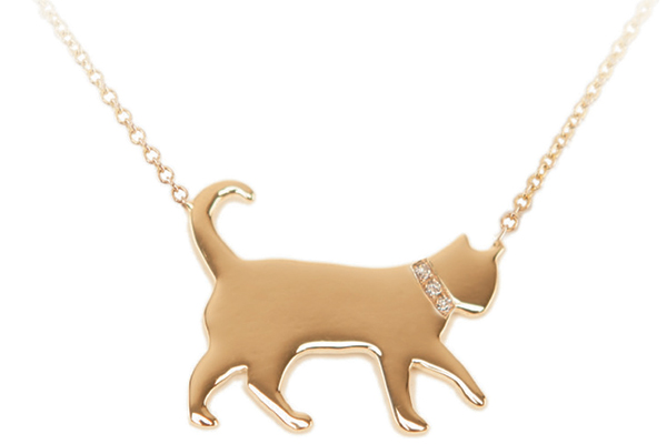 Carrier Cramer cat necklace.