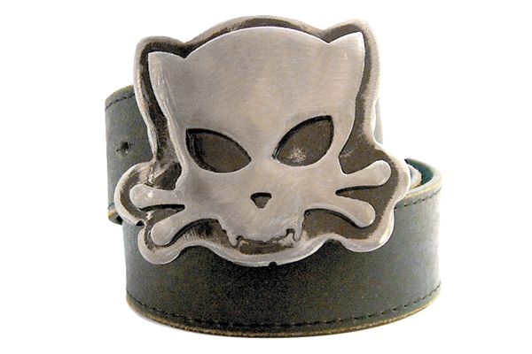 Outlaw Kritters' cat belt buckle.