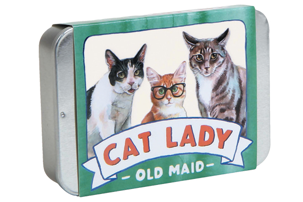 Stocking stuffers for cat lovers: Cat Lady Old Maid.
