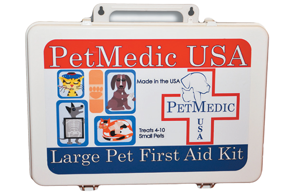 A first-aid kit for cats.
