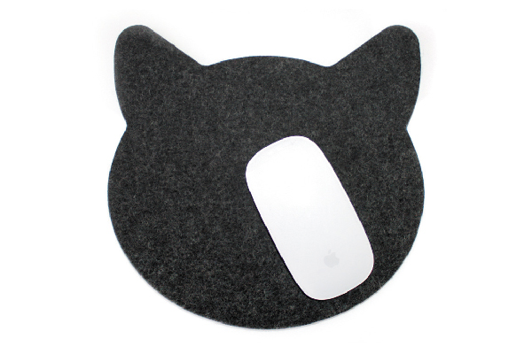 Find this simple and sophisticated mouse pad at feltplanet.etsy.com.