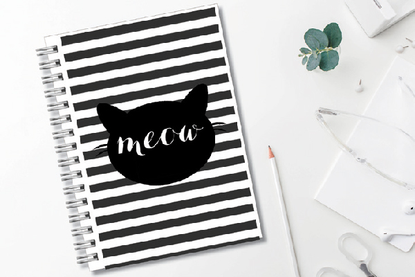 Keep track of your to-do list with this fun notebook. Get it at typologiepaperco.etsy.com.