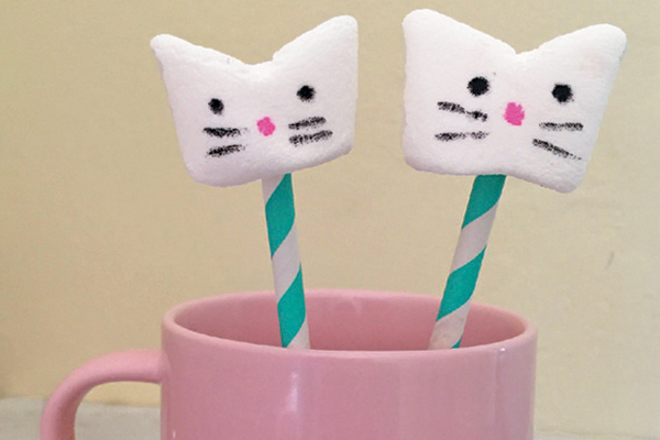 Kitty marshmallows.