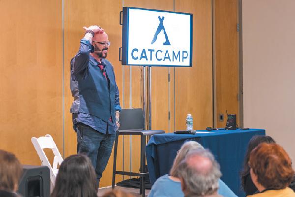 Jackson Galaxy at Cat Camp.