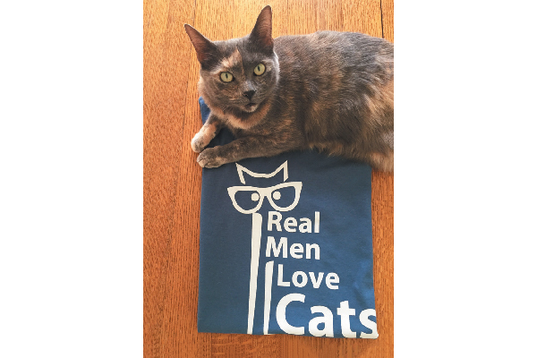 Show your love for cats with this fun T-shirt available on Amazon.com.