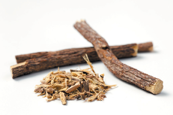Licorice root has anti-inflammatory properties.
