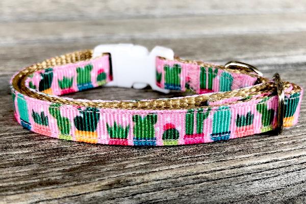 Cactus Cat Collar, A JoyFul Bird ($12).