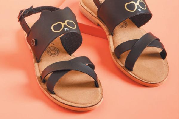 Cat sandals.