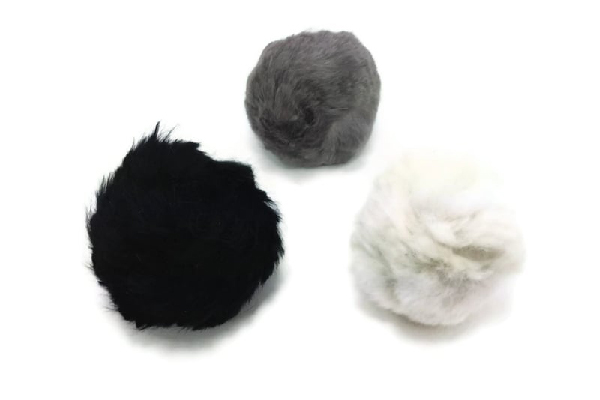 Fur Rattle Ball for cats, Mickey's Pet Supplies ($0.95).