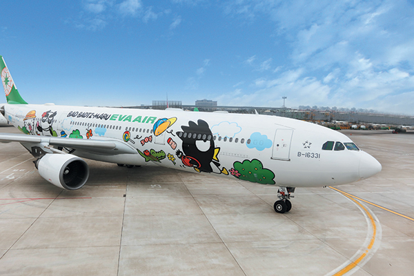 EVA Air, the airline of Taiwan, has a Hello-Kitty themed flight. Photography courtesy of EVA Air.