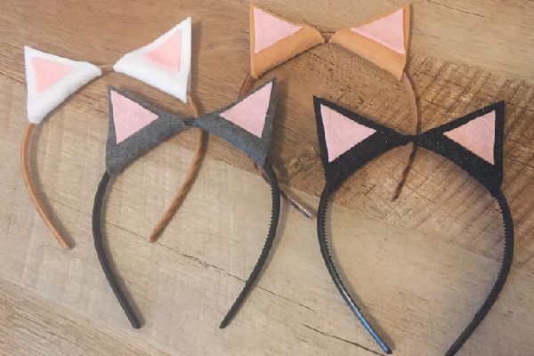 Cat-ear headbands.