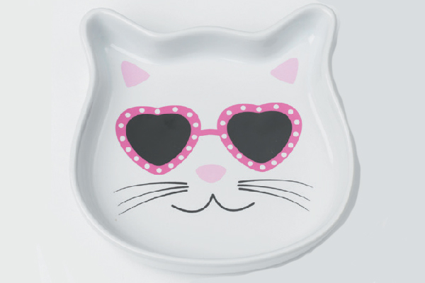 Stud Kitty & Diva Kitty Cat Saucers.