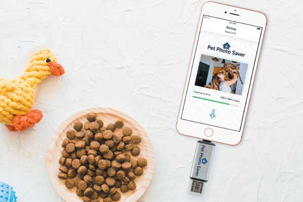 Pet Photo Saver saves you from losing photos of your pet.