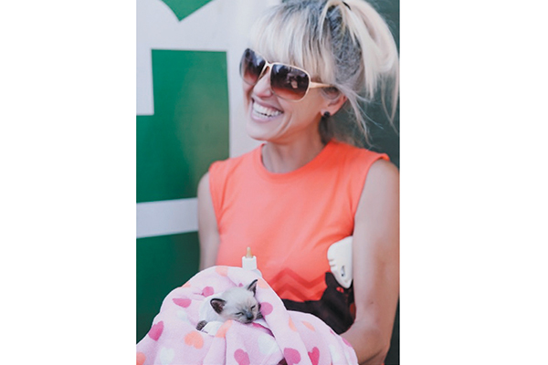 Jacquie Navratil founded Luxe Paws in 2012, and the organization has helped thousands of cats through TNR. Photo courtesy of Luxe Paws.